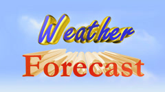 Weather forecast Stock Footage
