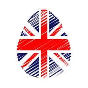 British flag in easter egg Stock Illustration