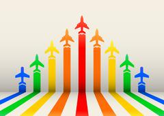 Boost airplanes Stock Illustration