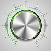 volume knob - stock illustration