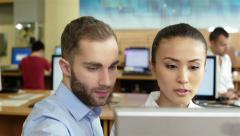 Students at the computers Stock Footage