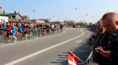 The World Half Marathon Championship is in town Stock Footage