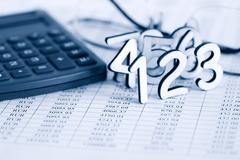 bookkeeping concept - stock photo