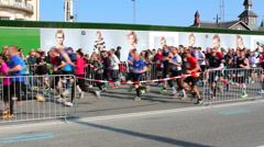 Running competition Stock Footage