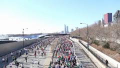 Runners during 2014 Shamrock Shuffle 8k race Stock Footage