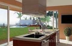 Modern Kitchen - stock illustration