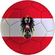 football ball with austrian flag - stock illustration
