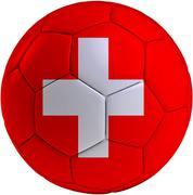 Football ball with swiss flag Stock Illustration