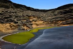 Coastline and summer in il golfo lanzarote spain Stock Photos