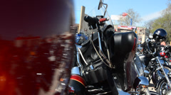 Obstacle Transition with parking of motorcycle Stock Footage