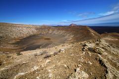 Vulcanic timanfaya  rock stone in los volcanes Stock Photos