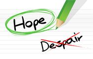 Stock Illustration of hope over despair illustration design