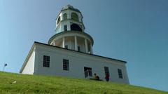 Halifax Nova Scotia New Scotland Canada 069 city, Old Town Clock on Citadel Hill Stock Footage