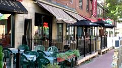 Halifax Nova Scotia New Scotland Canada 065 city, street bistro in downtown Stock Footage