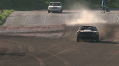 Joyride with Chevrolet Camaro on a gravel path Stock Footage