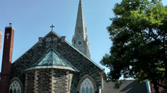 Halifax Nova Scotia New Scotland Canada 070 Saint Mary's Basilica from behind Stock Footage