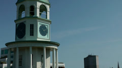 Halifax Nova Scotia New Scotland Canada 058 zoom out from old town clock Stock Footage