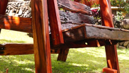 Stock Video Footage of Wooden Swing Swings