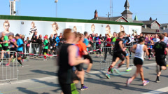 Running Copenhagen Stock Footage
