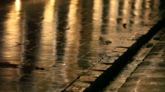Rain on the street. - stock footage