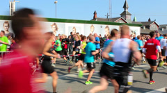 The World Half Marathon_ Copenhagen_Running in both directions Stock Footage