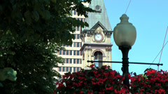 Halifax Nova Scotia New Scotland Canada 062 part of clock tower in downtown Stock Footage