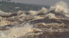 Congo River close-up slow pan from left to right Stock Footage