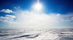 Winter landscape.  Timelapse Stock Footage