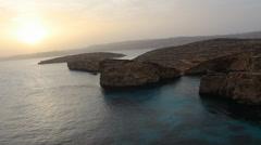 Sun Rise/ Set Sea Ripples Stock Footage