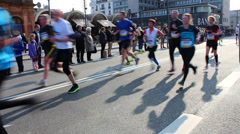 Half Marathon towards the end of the race Stock Footage