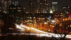 Denver Liikenne silta yöllä Arkistovideo