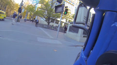 48 seconds first person perspective on a melbourne bike on st kilda to swanson - stock footage