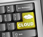"Stock Illustration of keyboard illustration ""cloud computing"""