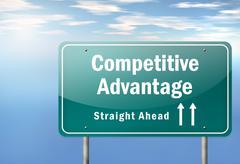 competitive advantage - stock illustration