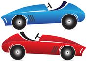 Stock Illustration of toy racing cars