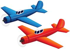 Toy planes Stock Illustration