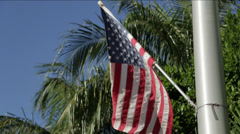MIAMI United States flag rallenty boatshow Stock Footage