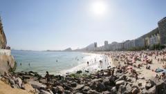Copacabana Beach - Rio de Janeiro - Brazil Stock Footage