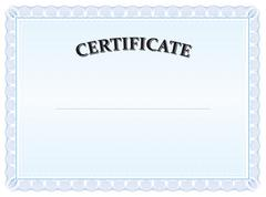 Certificate, vintage, graduate, diploma Stock Illustration