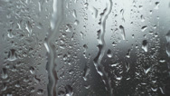 Stock Video Footage of Rain Drops Flowing Down Window HD