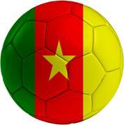 Football ball with cameroon flag Piirros
