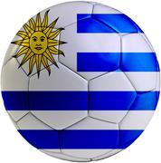 Football ball with uruguayan flag Stock Illustration