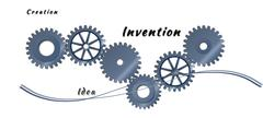 Stock Illustration of abstract toothed wheels as creation mechanism isolated on a white background