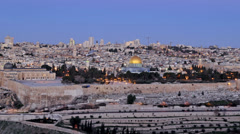 Jerusalem Israel Dome of the Rock sunrise time lapse Stock Footage