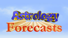 Astrology forecasts, 3D titles animation for videos HD Stock Footage