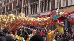 Chinese New  Year dragon Stock Footage