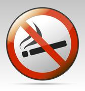 no smoking prohibition sign - stock illustration