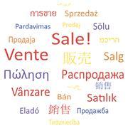 Tag cloud or speech bubble: Sale. - stock illustration