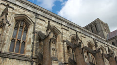Winchester Cathedral, side view Stock Footage