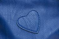 Stock Photo of Natural qualitative blue leather texture.